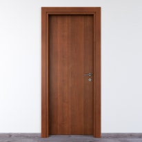 Porta per bed & breakfast battente Salisbury noce nazionale 70 x H 210 cm sx