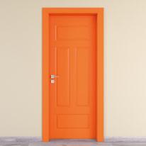 Porta da interno battente Coconut Groove arancio 90 x H 210 cm dx