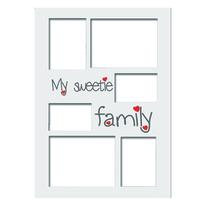 Passe-partout per cornice Family verticale bianco 6 foto
