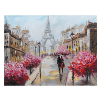 quadro dipinto a mano Parigi 90x120