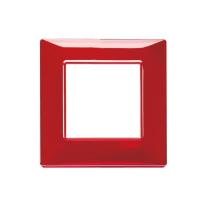 Placca 2 moduli Vimar Plana rubino