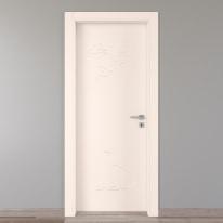 Porta da interno battente Catbird crema 80 x H 210 cm sx