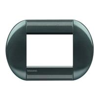 Placca 3 moduli BTicino Livinglight acciao