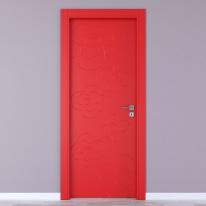 Porta da interno battente Flower red rosso 80 x H 210 cm sx