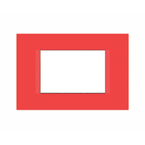 Placca 3 moduli FEB Flat rosso n°5