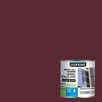 Smalto Luxens 3 in 1 all'acqua rosso mattone satinato 0.5 L