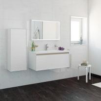 Mobile bagno Venus bianco L 100 cm