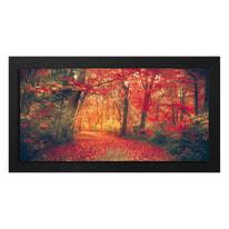 quadro su tela con cornice Bosco 76x136