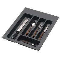 Porta posate e mestoli grigio L 35,1 x P 49 x H 4,5 cm