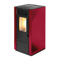 Stufa a Pellet Tectro  TBH 570 7 kW rosso