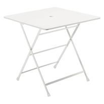 Tavolo pieghevole Cassis, 76 x 76 cm bianco