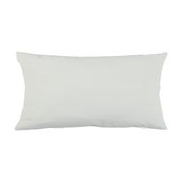 Fodera per cuscino bianco 30 x 50 cm