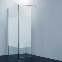 Doccia walk-in Open 90 + 30, H 195 cm cristallo 6 mm serigrafato/cromo