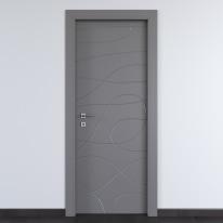 Porta da interno battente Wind Ash cenere 60 x H 210 cm dx