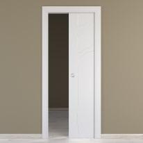 Porta da interno scorrevole Wild bianco 80 x H 210 cm reversibile