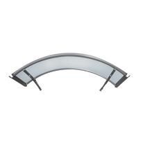 Pensilina in alluminio L 160 x P 120 cm