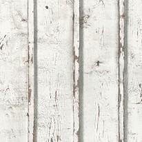 Carta da parati PVC legno bianco 10,05 m