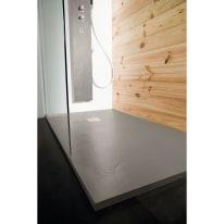 Piatto doccia resina Pizarra 100 x 140 cm cemento