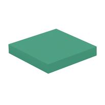 Mensola Spaceo verde L 23,5 x P 23,5, sp 3,8 cm