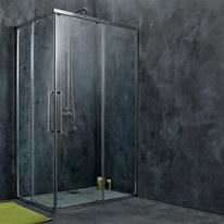 Box doccia scorrevole Purity 67.5-69 x 67-69, H 195 cm cristallo 6 mm trasparente/silver