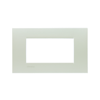 Placca 4 moduli BTicino Livinglight argento
