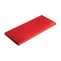Mensola Spaceo rosso L 56 x P 20, sp 1,8 cm