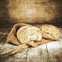 Quadro in legno Rustic bread 50x50