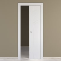 Porta da interno scorrevole Wild bianco 70 x H 210 cm reversibile
