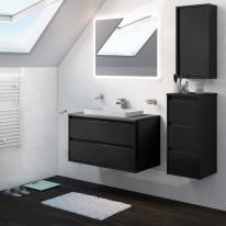Mobile bagno Loto grigio antracite L 90 cm