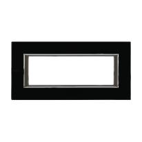 Placca 6 moduli BTicino Axolute nero notte