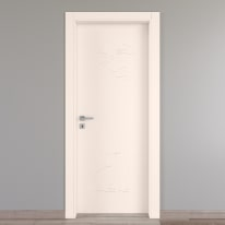 Porta da interno battente Catbird crema 70 x H 210 cm dx