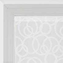 Tendina a vetro per finestra Roundy bianco 60 x 160 cm