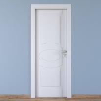 Porta da interno battente Street bianco 60 x H 210 cm sx