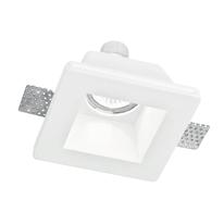 Faretto incasso gesso Ghost-q1 bianco fisso quadrato 12 x 12 cm