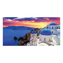 quadro su tela Santorini 90x190