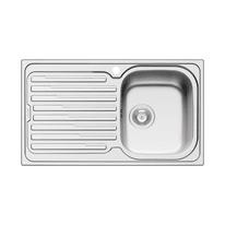 Lavello incasso Amaltia L 86 x P  50 cm 1 vasca DX + gocciolatoio