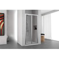 Porta doccia Oceania 90-96, H 195 cm vetro temperato 4 mm trasparente/silver
