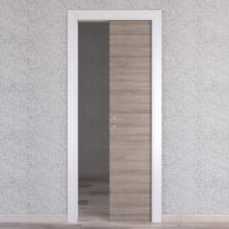Porta da interno scorrevole One grigio/bianco 90 x H 210 cm reversibile