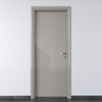 Porta da interno battente Pvc grey grigio 70 x H 210 cm sx
