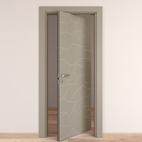 Porta da interno rototraslante The Thing grigio 70 x H 210 cm dx
