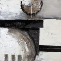 quadro dipinto a mano Astratto grigio 100x100