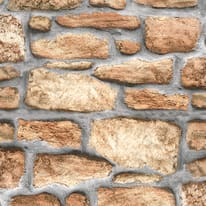 Pellicola adesiva muro pietra marrone 67,5 cm x 2 m