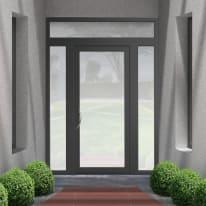 portoncino d'ingresso alluminio Condo23 grigio L 170 x H 250 dx