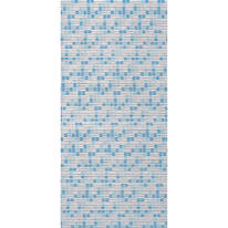 Tenda doccia Mosaico blu L 180 x H 200 cm