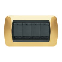 Placca 4 moduli BTicino Living International oro
