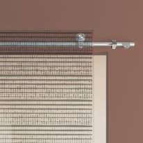 "Binario scorrevole kit ""B"" in acciaio satinato L 190 cm, diametro 2,5 cm"