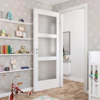 Porta da interno battente Sati 80 x H 210 cm dx