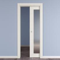 Porta da interno scorrevole Star Vetro Bianco Matrix 70 x H 210 cm reversibile