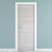 Porta da interno battente One ecru/white 70 x H 210 cm reversibile