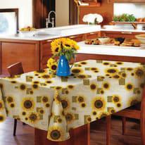 Tovaglia plastificata Girasole giallo 160 x 120 cm